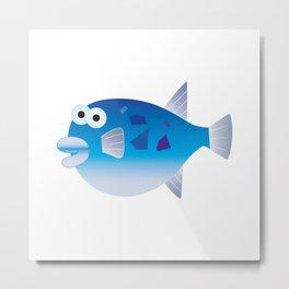 Globefish Metal Print