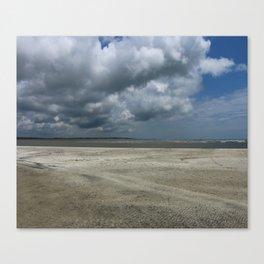 Dramatic Sky Over Golden Isles Beach Canvas Print