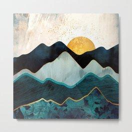 Glacial Hills Metal Print
