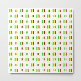 Flag of mali 5 - handmade Metal Print