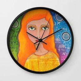 Colourful girl Wall Clock