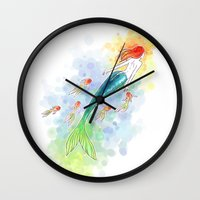under the sea Wall Clocks featuring Under the Sea by Freeminds