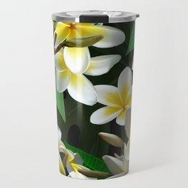 Plumeria Flowers Travel Mug