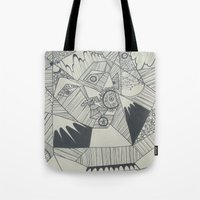 naked Tote Bags featuring Naked by Annemiek Boonstra