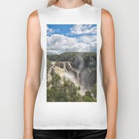 geology Biker Tanks featuring Beautiful Barron Falls by Wendy Townrow