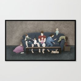 Family Scripture Study Canvas Print