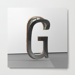 Gravity Letter G Metal Print
