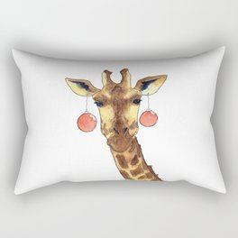 Girafe de Noël Rectangular Pillow