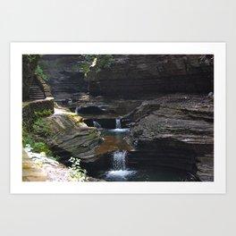 Waterfall at Glens Falls Art Print