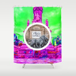 Feminism Mexico Endangered ecopop Shower Curtain