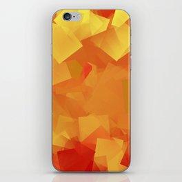 Cubism in orange iPhone Skin