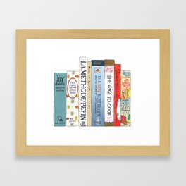 Cookbooks Framed Art Print