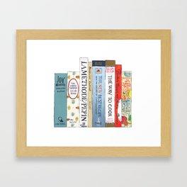 Cookbooks Bookshelf for Cooks & Food Lovers Framed Art Print