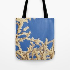 Frosted Trees Winter Tote Bag
