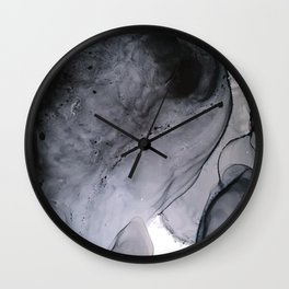 Smoke Diptych I : Alcohol Ink Painting Wall Clock