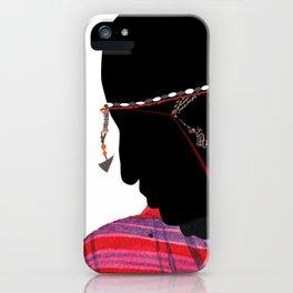 Maasai Man iPhone Case