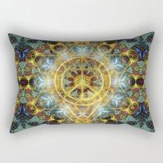 Sacred Geometry Fractal Mandala Rectangular Pillow