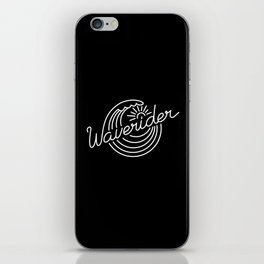Waverider - white on black iPhone Skin