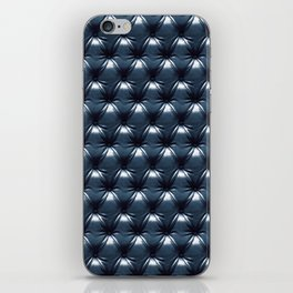 Faux Midnight Leather Buttoned iPhone Skin