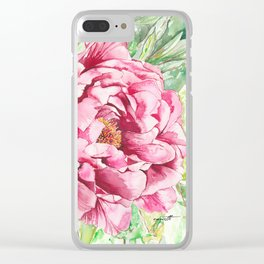 Peonie Clear iPhone Case