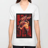 hydra V-neck T-shirts featuring Hydra by John Hernandez Art
