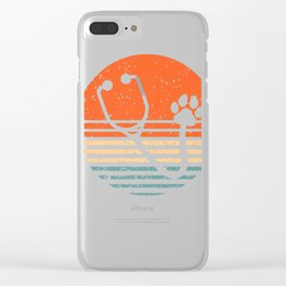 Veterinary Clinics Vet Tech Clinical Students Gifts Clear iPhone Case