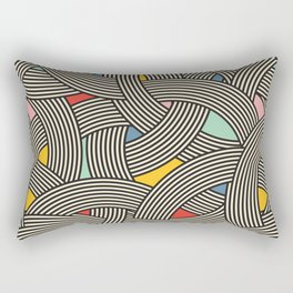 Modern Scandinavian Multi Colour Color Curve Graphic Rectangular Pillow