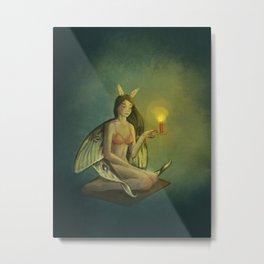 like moth to a flame Metal Print