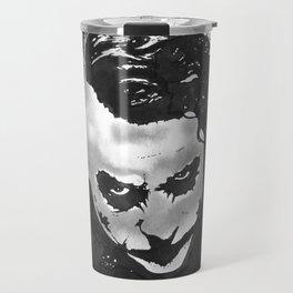 The joker in B&W Travel Mug