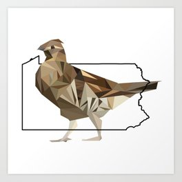 Pennsylvania – Ruffed Grouse Art Print