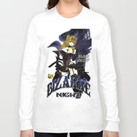 burlesque Long Sleeve T-shirts featuring BLACK SWAN BURLESQUE NIGHT by Chandelina