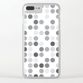 GREYS WHITE Clear iPhone Case