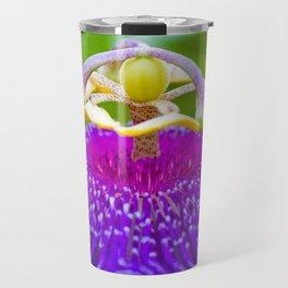 Macro Photography of Exotic Violet Flower Travel Mug