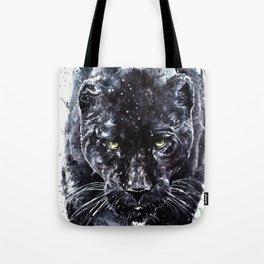 Panther watercolor painting predator animals puma Tote Bag