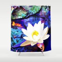 Electrifying Lotus Shower Curtain