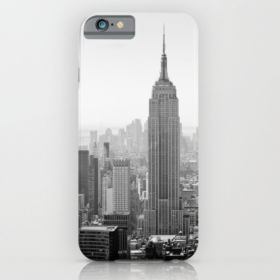 Manhattan - Empire State Building Panorama | B/W iPhone & iPod Case