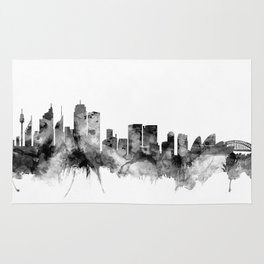 Sydney Australia Skyline Rug