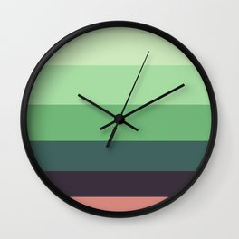 Succulent Colorful Green Pattern Wall Clock