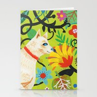 calendars Stationery Cards featuring Spring Jindo Dog by Janna Morton