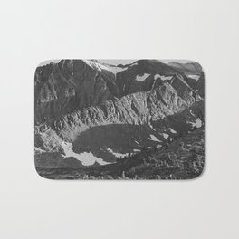 Peak above Woody Lake, Kings River Canyon Bath Mat