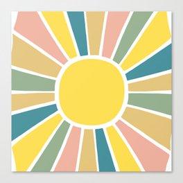 Retro Sunshine Canvas Print