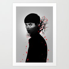 Black & Red Art Print