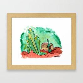 Crystal Loot Framed Art Print
