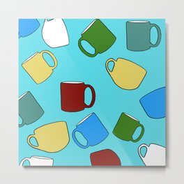 Coffee Mugs! Metal Print