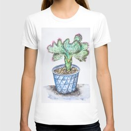 Euphorbia Lactea Cactus T-shirt