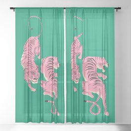 The Chase: Pink Tiger Edition Sheer Curtain