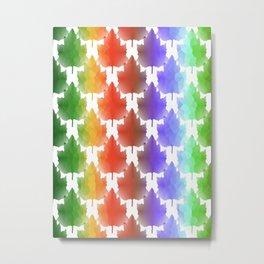 Rainbow Maple Leaves Metal Print