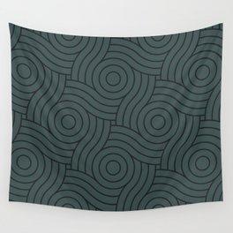 Circle Swirl Pattern Dark Green Inspired by PPG Glidden Night Watch 1145-7 Wall Tapestry