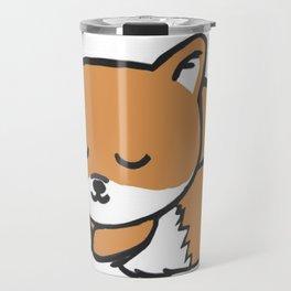 Sleeping Kawaii Fox Travel Mug