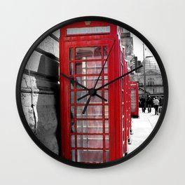 """Classic Britain"" Telephone Booths Wall Clock"